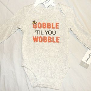 Baby Gobble Wobble Thanksgiving One Piece